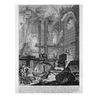 Carte Postale Chambre d'enterrement inventée et conçue dans