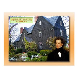 Carte Postale Chambre des sept pignons, Salem, le Massachusetts