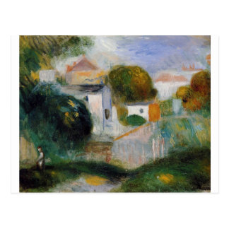 Carte Postale Chambres dans les arbres par Pierre-Auguste Renoir