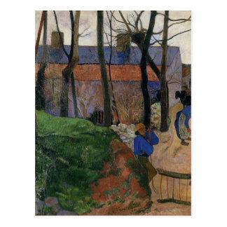 Carte Postale Chambres en le Pouldu par Paul Gauguin