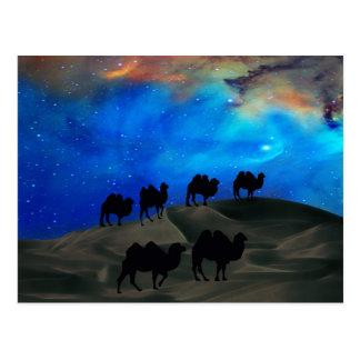 Carte Postale Chameaux de caravane de désert