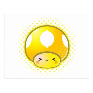 Carte Postale Champignon aigre de citron de Kawaii