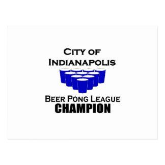 Carte Postale Champion de puanteur de bière d'Indianapolis