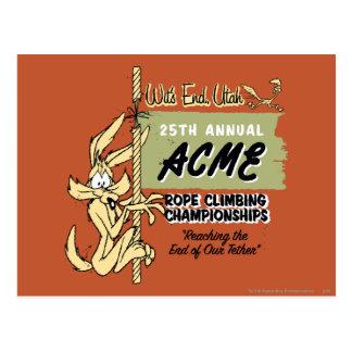 Carte Postale Championnats d'escalade d'E. Coyote Rope de Wile