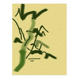 Carte Postale Chance et bambou