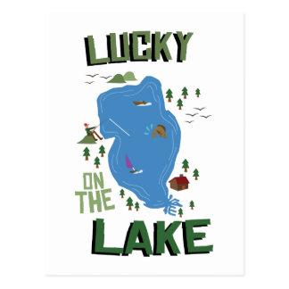 Carte Postale Chanceux sur le lac
