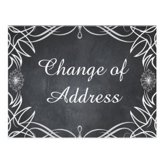 Carte Postale Changement d'adresse de remous noir de tableau