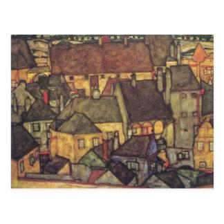 Carte Postale Changement d'adresse - Schiele CIty jaune, 1914
