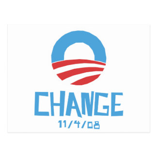 Carte Postale Changement d'Obama