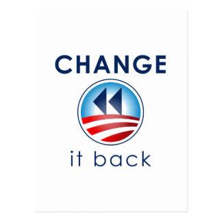 Carte Postale Changez-le de retour