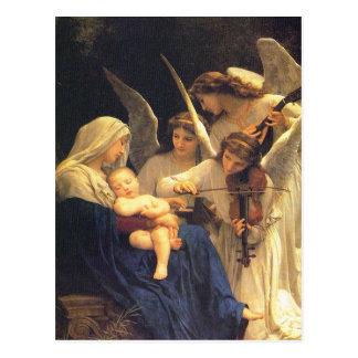 Carte Postale Chanson de William Adolphe Bouguereau des anges