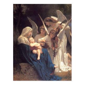Carte Postale Chanson des anges - William-Adolphe Bouguereau