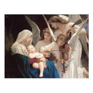 Carte Postale Chanson des anges, William-Adolphe Bouguereau
