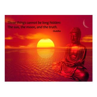 Carte Postale Chant religieux inspiré de citation de Bouddha