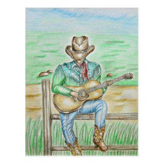 Carte Postale Chanteur de cowboy