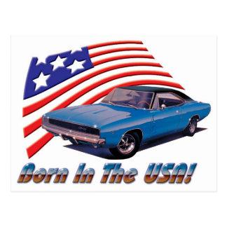 """Carte Postale Chargeur de 1968 Dodge """"soutenu aux Etats-Unis """""""
