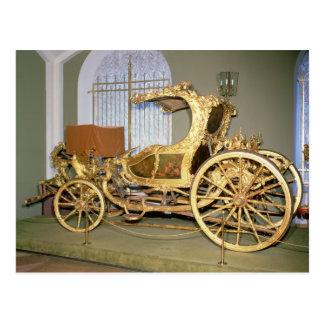 Carte Postale Chariot de gondole d'impératrice Catherine II