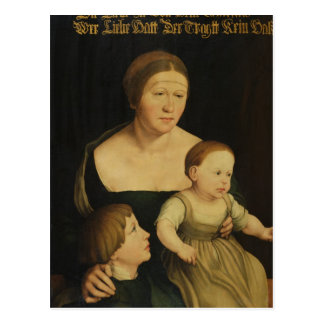Carte Postale Charité ou la famille de l'artiste, c.1528