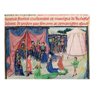 Carte Postale Charlemagne et ses barons étant enchantés