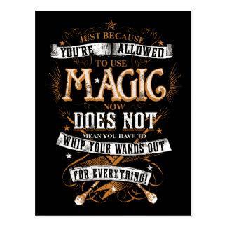 Carte Postale Charme   de Harry Potter juste puisqu'on vous