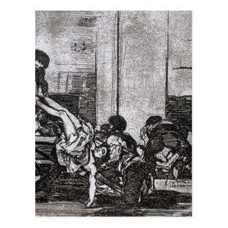 Carte Postale Charretées au cimetière par Francisco Goya