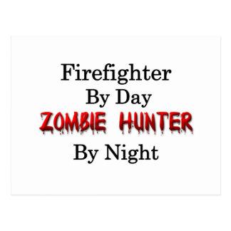 Carte Postale Chasseur de sapeur-pompier/zombi