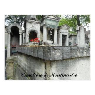 Carte Postale Chat de cimetière de Montmartre (texte)