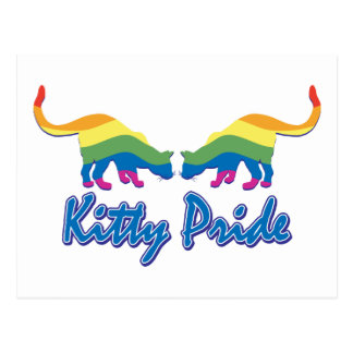 Carte Postale Chat de Kitty de gay pride