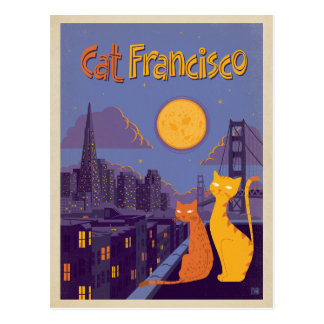 Carte Postale Chat Francisco