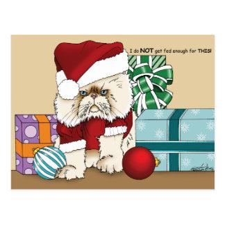 Carte Postale Chat grincheux de Noël