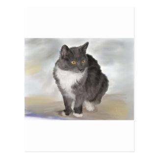 Carte Postale Chat gris