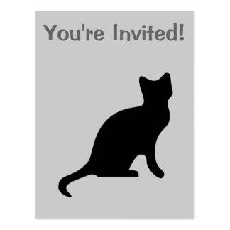 Carte Postale Chat noir - effrayant éffrayant