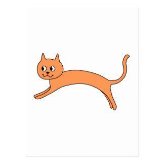 Carte Postale Chat orange sautant