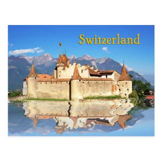 Carte Postale Château d'Aigle, Suisse