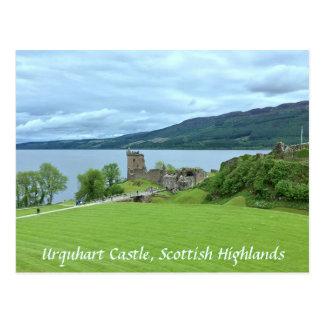 Carte Postale Château d'Urquhart donnant sur Loch Ness en