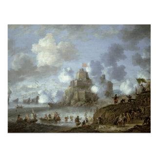 Carte Postale Château méditerranéen sous le siège des Turcs