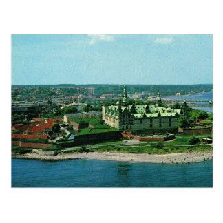 Carte Postale Château vintage du Danemark Elseneur Kronburg de