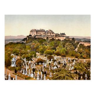 Carte Postale Château vintage Ecosse de Stirling