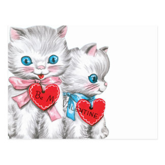 Carte Postale Chatons blancs Valentine
