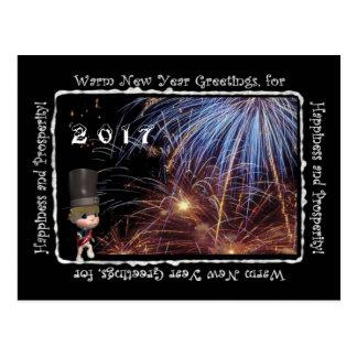 Carte postale chaude de 2017 salutations de