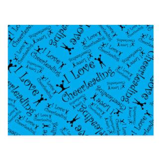 Carte Postale Cheerleading d'amour du bleu de ciel I