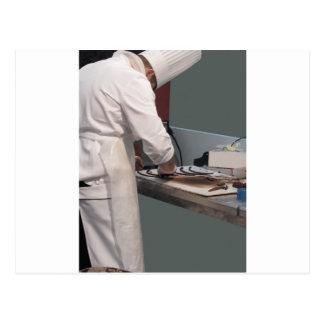 Carte Postale Chef de pâtisserie dans la cuisine