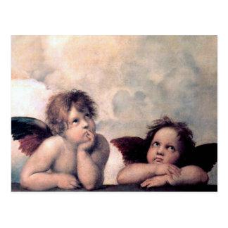 Carte Postale Chef d'oeuvre italien doux de la Renaissance