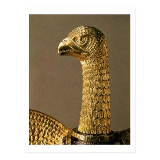 Carte Postale Chef d'un aigle, détail d'ornamenta du 12ème