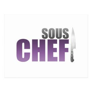 Carte Postale Chef pourpre de Sous