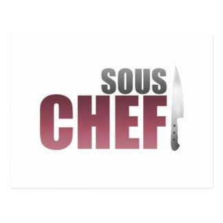 Carte Postale Chef rouge de Sous