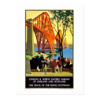 Carte Postale Chemin de fer de poster vintage de l'Angleterre et