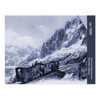 Carte Postale chemin de fer vintage de montagne de Chamonix Mont