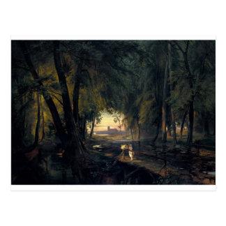 Carte Postale Chemin forestier près de Spandau 1835 par Karl