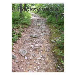 Carte Postale chemin rocheux de traînée appalachienne de